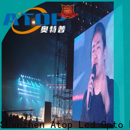 Atop led outdoor advertising led display screen easy maintenance for company advertising