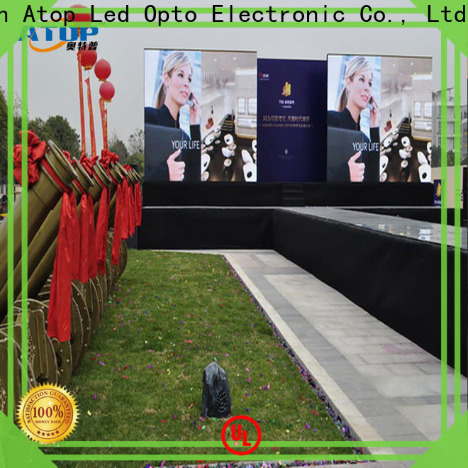 Atop led outdoor led display screen easy maintenance for company advertising