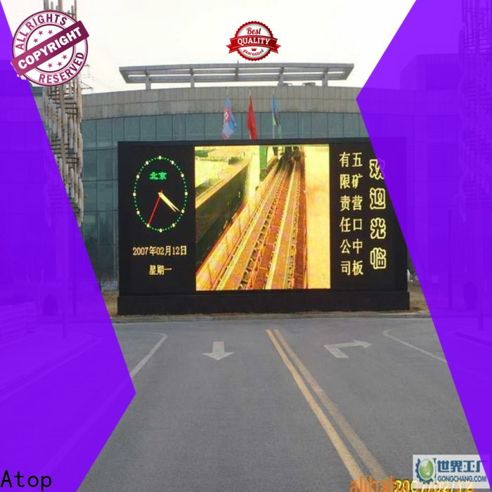 Atop high quality commercial led display on sale for both outdoor and indoor