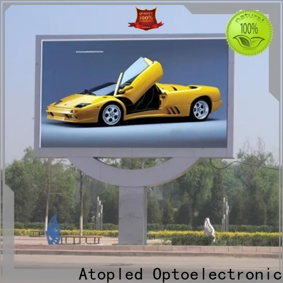 Atop custom outdoor led display signs with best color uniformity in market