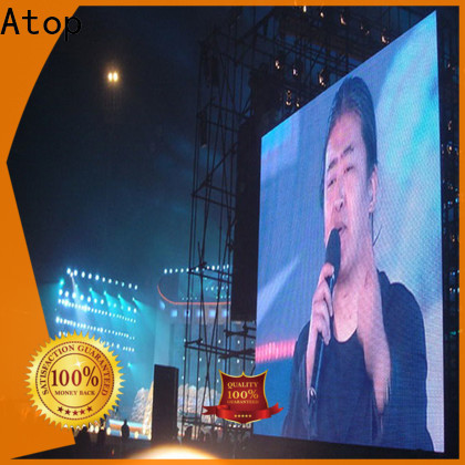 Atop outdoor led wall display with reliable quality for company advertising