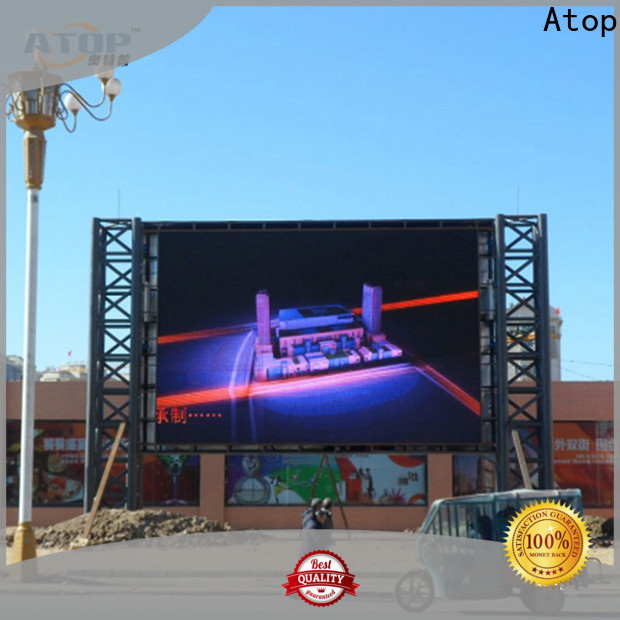 Atop alloy led wall display easy maintenance for both outdoor and indoor