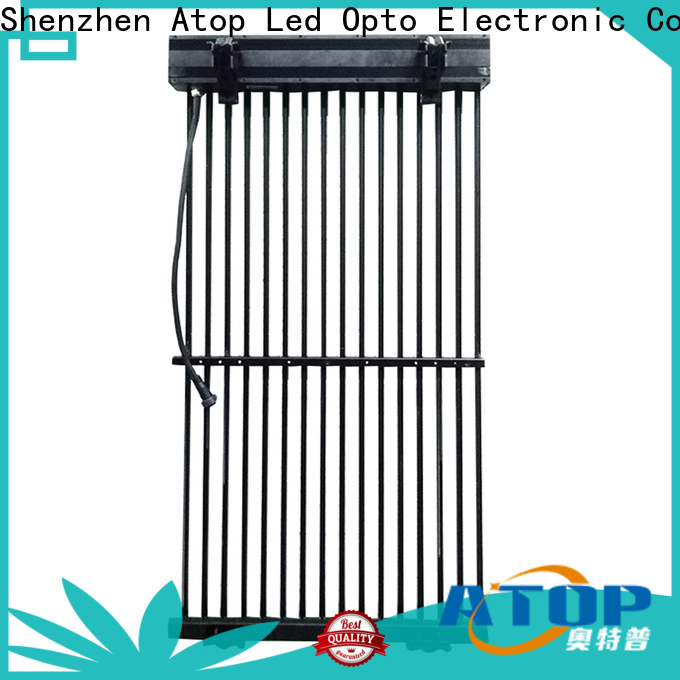 Atop dip led video curtain easy installation for events