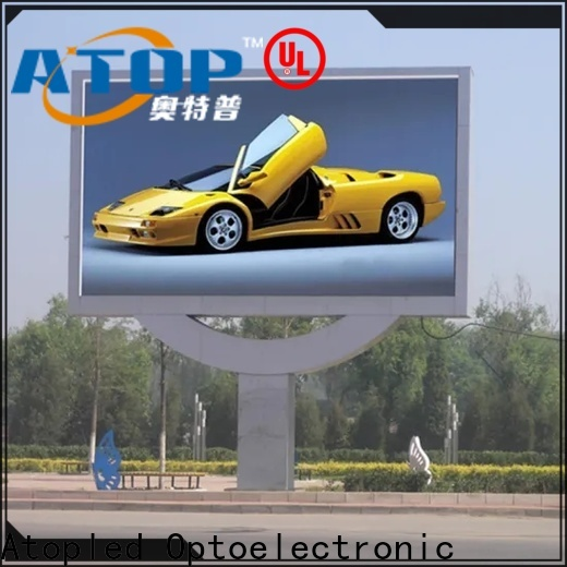 Atop indoor screen panels with the stringent quality standards for company advertising