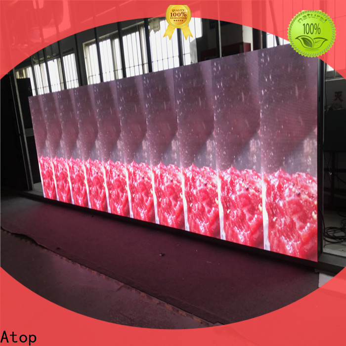 Atop best led wall manufacturers with reliable quality for company advertising