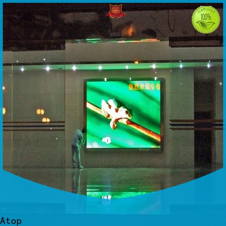 Atop full indoor fixed led display with reliable driving IC for advertising