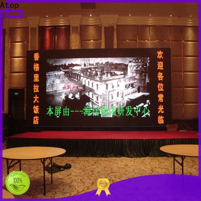 automatically large led display installation with best color uniformity for advertising