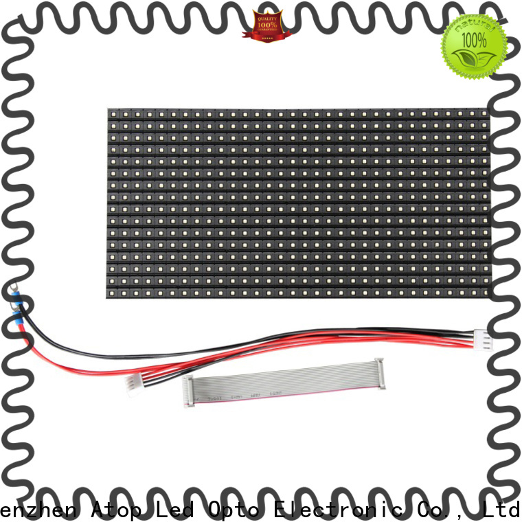 Atop customized flexible led module for indoor rental led display