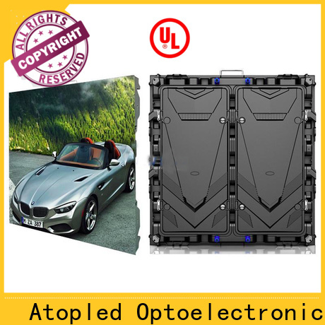 Atop wall led signs rental with best color uniformity for indoor led display
