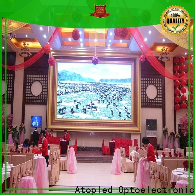 Atop color mall advertising with the stringent quality standards for indoor led display