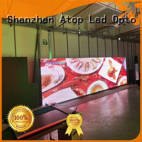 Atop priced-low energy saving led screen with reliable quality for company advertising