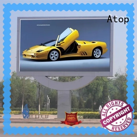 Atop energy saving led display with best color uniformity for both outdoor and indoor
