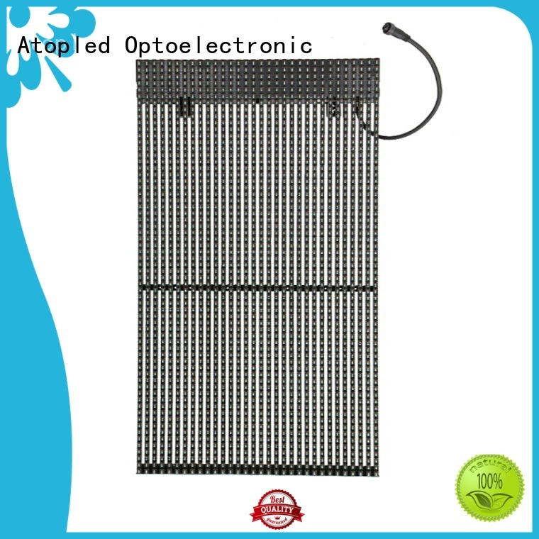Atop simple transparent led panel with low temperature for brand chain stores