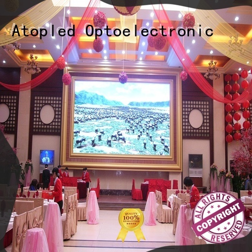 Atop wide view angle video wall display with relaible quality for advertising