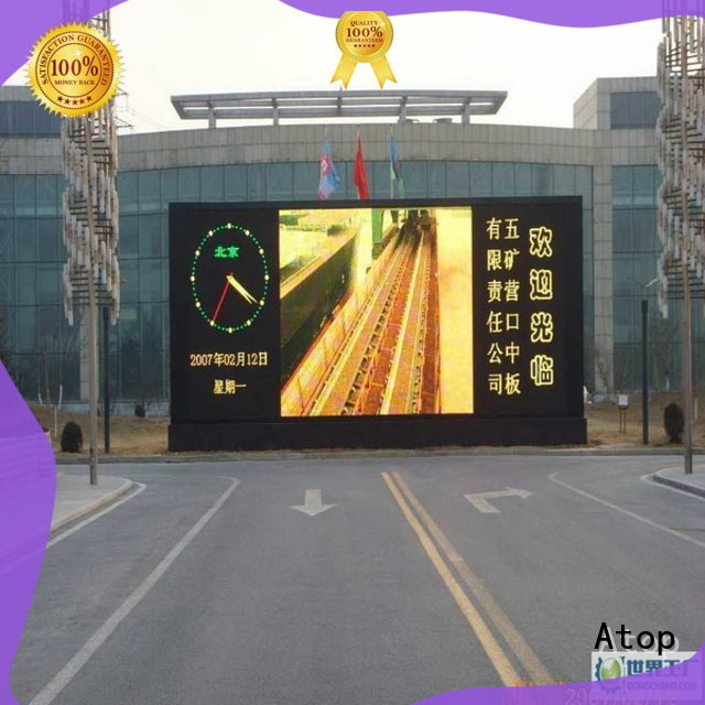Atop waterproof led videowall with relaible quality for advertising