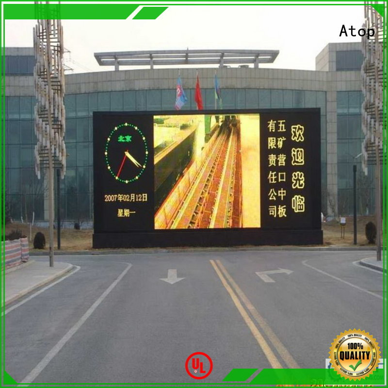 Atop high quality outdoor led screen for sale for both outdoor and indoor