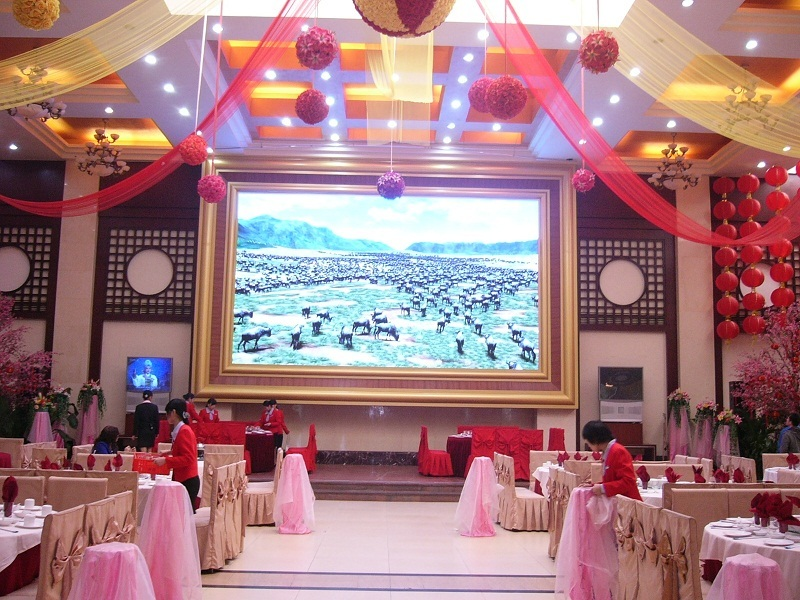 P4 indoor fixed installation led display for wedding
