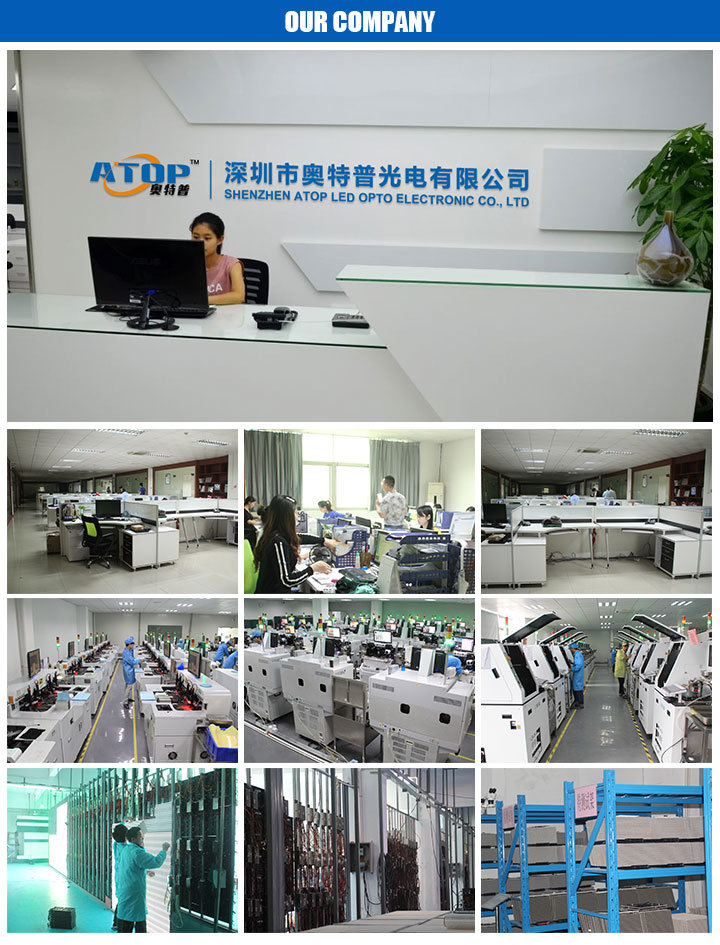 ATOPLED company complete led display aging testing workshop