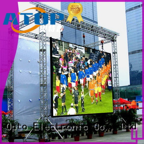 Atop display commercial led display for both outdoor and indoor