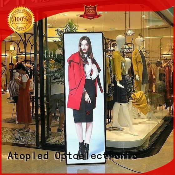 simple led poster display with high transparency for brand chain stores