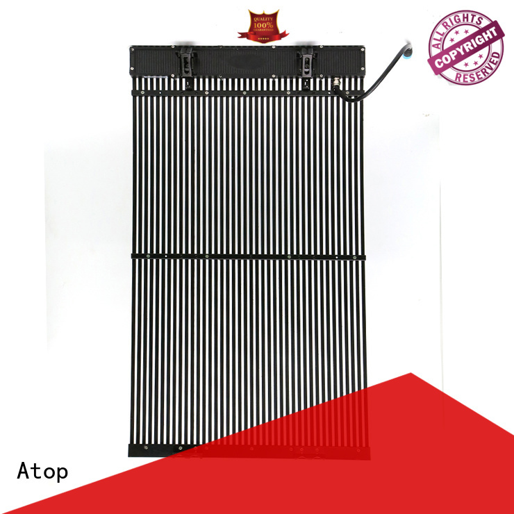 Atop easily transparent led screen easy installation for brand chain stores