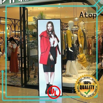 Atop elegant led poster display easy maintenance for financial institutions