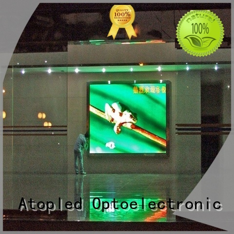 wide view angle indoor fixed led display installation with the stringent quality standards for advertising