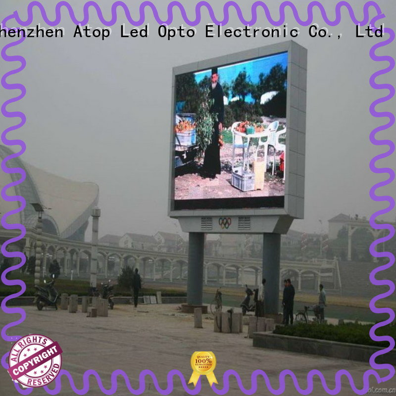 Atop customized outdoor led display screen price with relaible quality for advertising