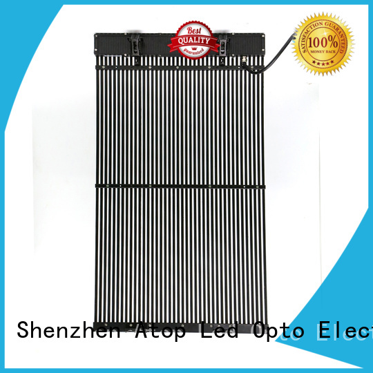 Atop design advertising led display screen with low temperature for building facades