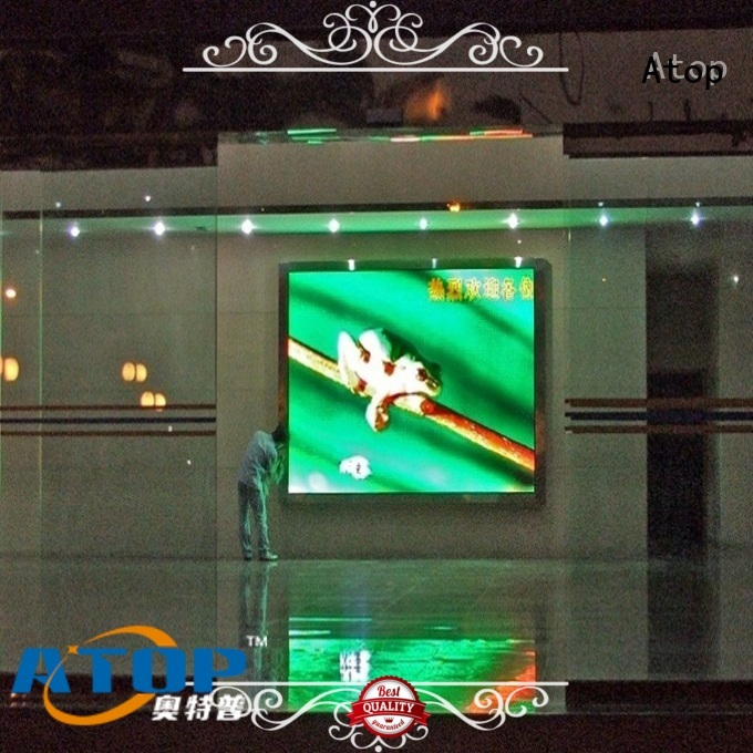 Atop led 4k video wall with the stringent quality standards for indoor led display