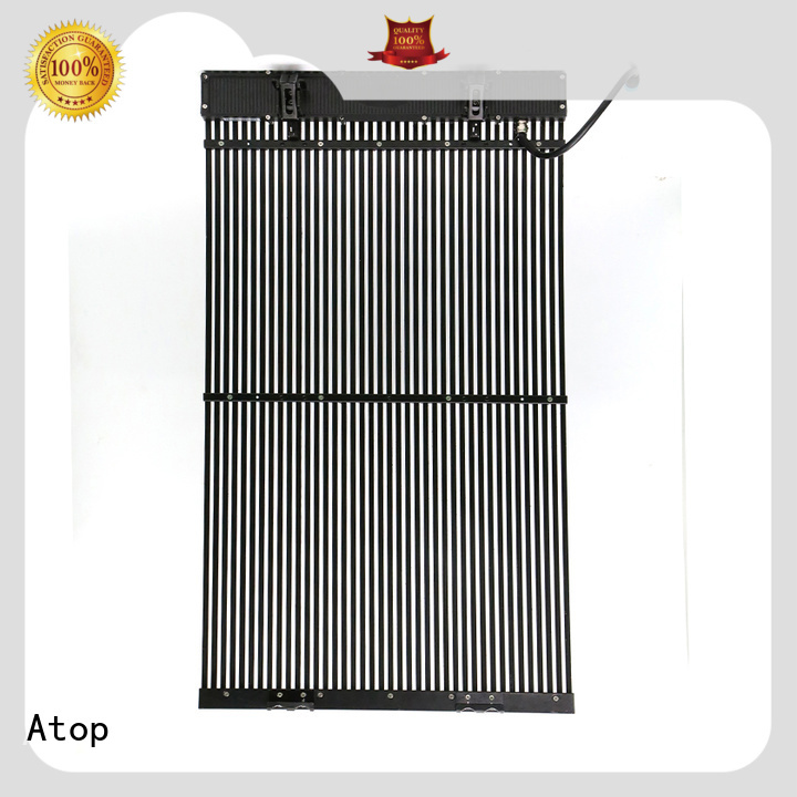 Atop curtain transparent led panel easy maintenance for events