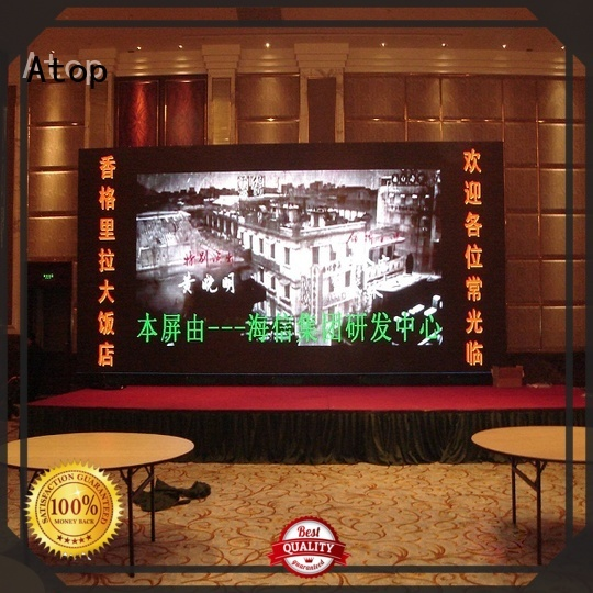 Atop installation indoor fixed led display with best color uniformity in market