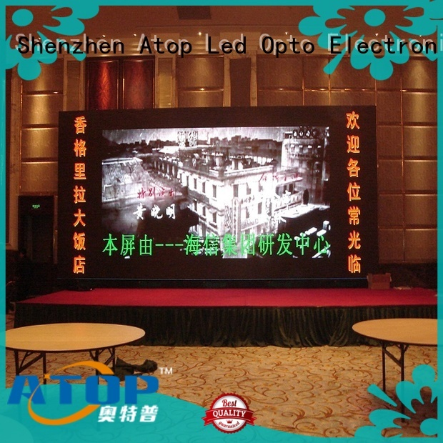 Atop wide view angle large led display with best color uniformity for indoor led display