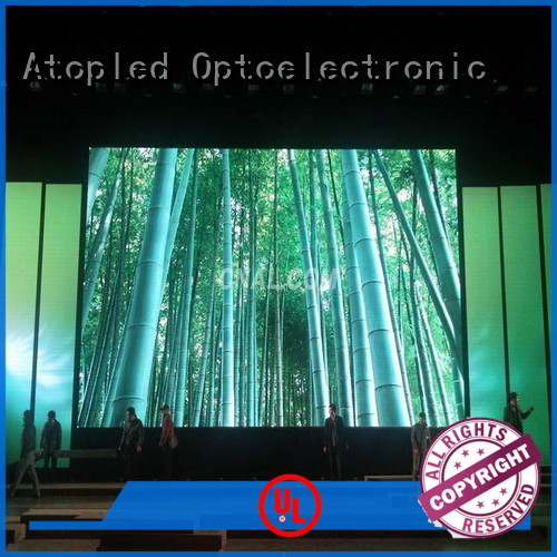 Atop stage led wall with high-quality for indoor rental led display