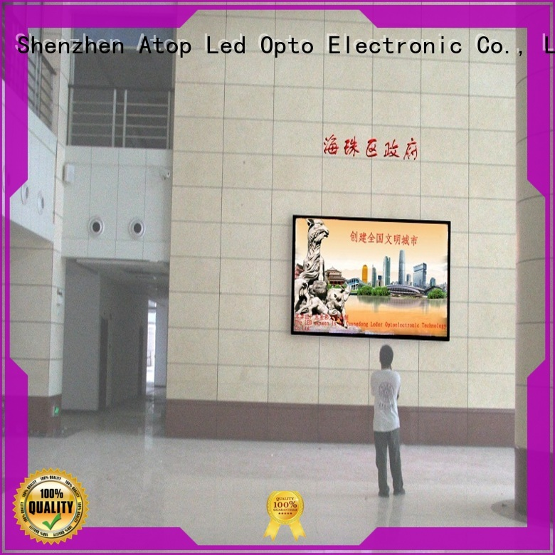 customized indoor fixed led displayscreen with the stringent quality standards for advertising