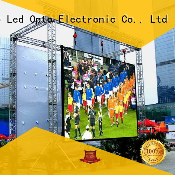 Atop clear full color led sign display in market、