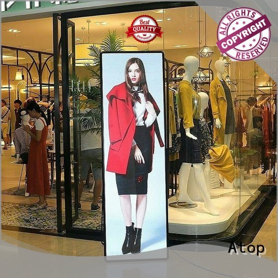 Atop simple poster led display with high transparency for shopping centers