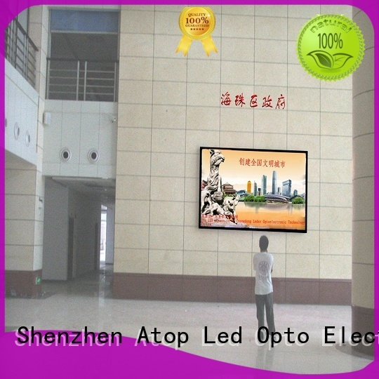 Atop indoor fixed led display with best color uniformity for indoor led display