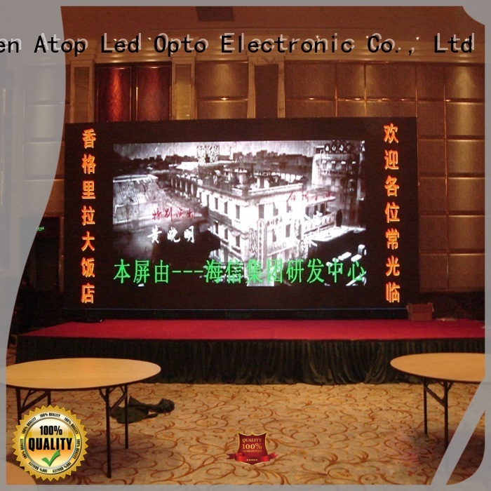 Atop large led screen with reliable driving IC in market
