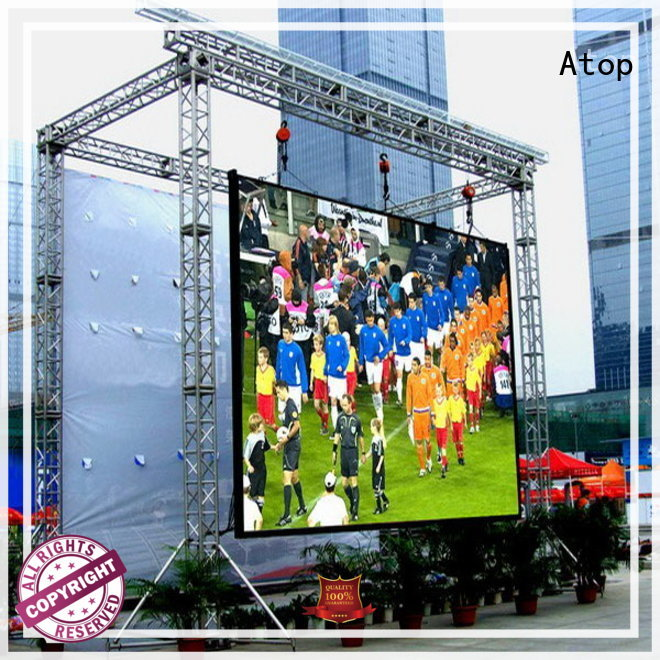 Atop high quality outdoor led screen for sale with relaible quality for both outdoor and indoor