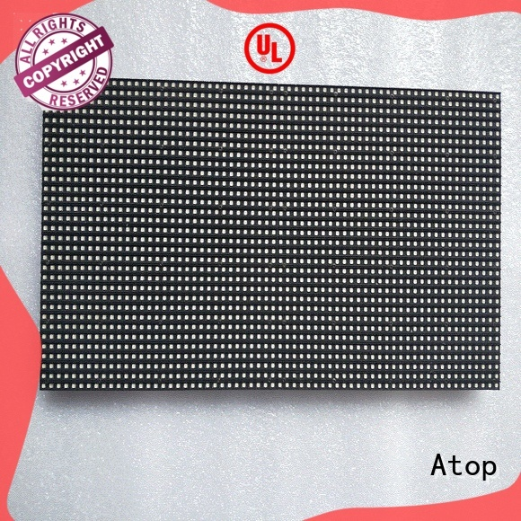 Atop high quality outdoor led module quality for indoor rental led display