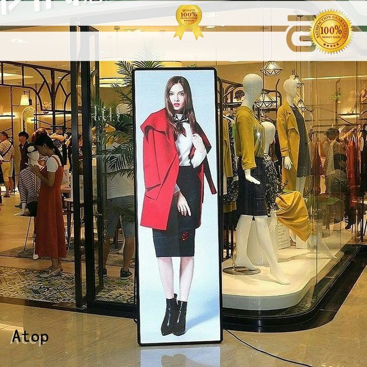 easily led poster display wuth low temperature for brand chain stores