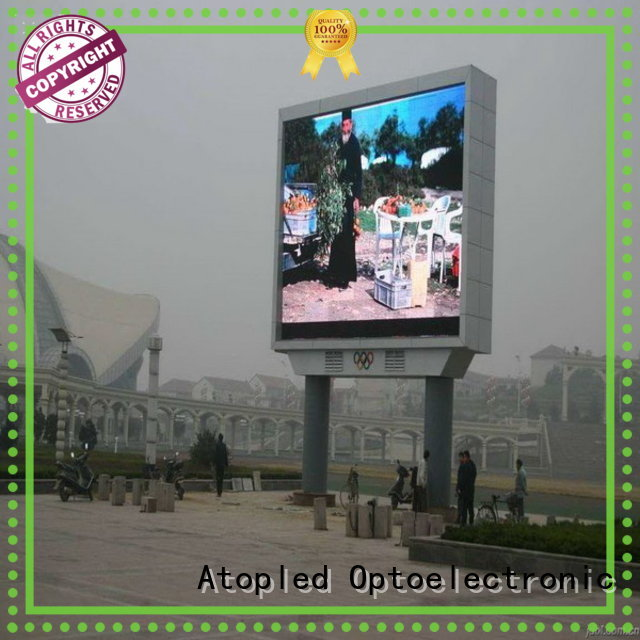 clear outdoor led display installation to meet different need in market、