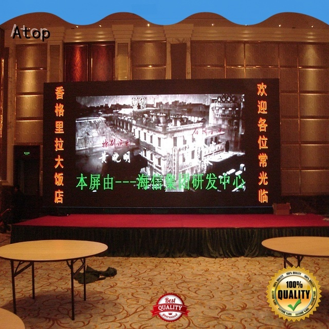 Atop indoor screen led with the stringent quality standards for indoor led display