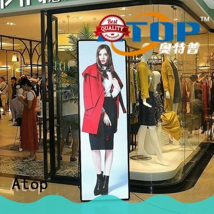 simple poster led screen easy maintenance for brand chain stores