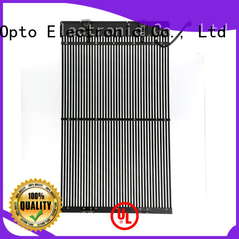 Atop simple transparent led screen with low temperature for airports