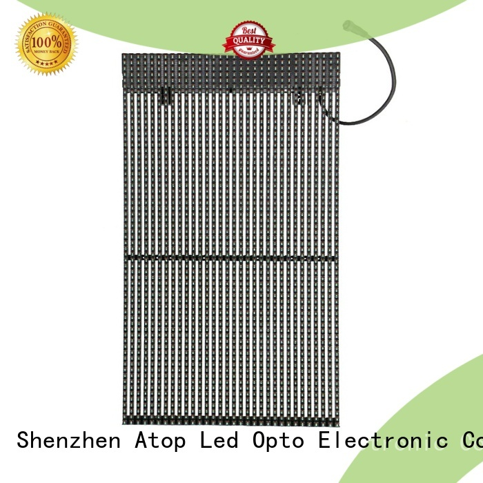 Atop professional transparent led wall with low temperature for financial institutions