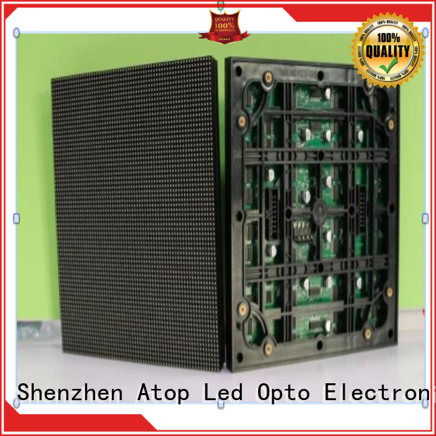 Atop size led display module with relaible quality for indoor rental led display