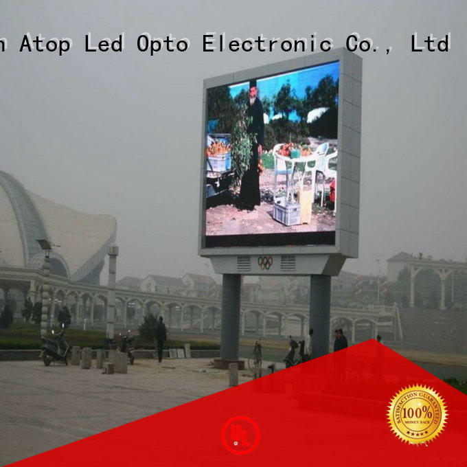 Atop display outdoor advertising led display with relaible quality for advertising