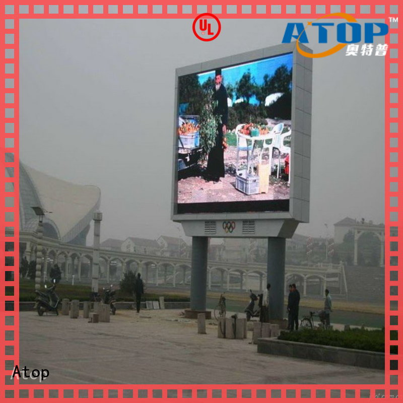 Atop online commercial led display for advertising